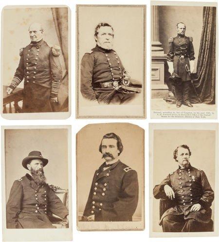 32013: Group of Six Cartes de Visite Portraits of Union