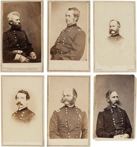 32014: Group of Six Cartes de Visite of Union Generals