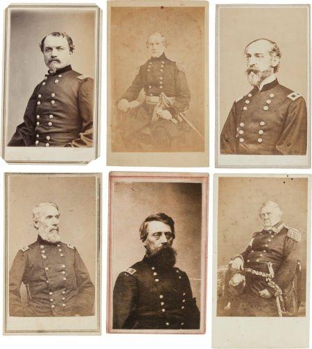 32015: Group of Six Cartes de Visite of Union Generals.