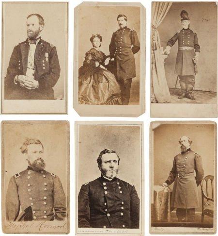 32016: Group of Six Cartes de Visite of Union Generals.