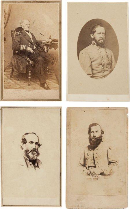 32017: Group of Four Cartes de Visite of Confederate Ge