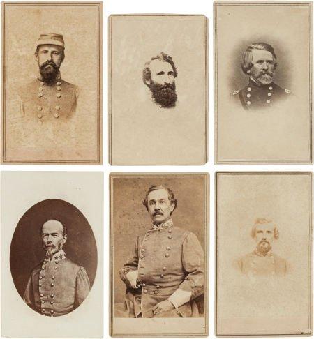 32018: Group of Six Cartes de Visite of Confederate Gen