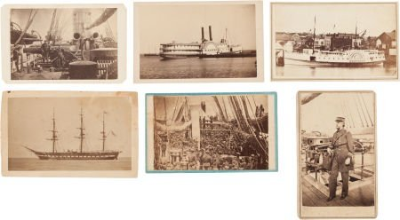 32023: Group of Six U. S. Navy-related Civil War Cartes