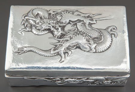 68007: A CHINESE EXPORT SILVER BOX Unknown maker, China