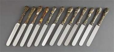 68180: A SET OF TWELVE CALDWELL KNIVES WITH JAPANESE MI
