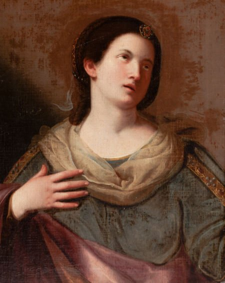 66020: BOLOGNESE SCHOOL (17th Century) A Sibyl with Eye