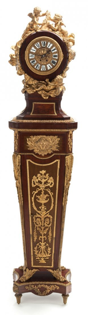 67002: A LOUIS XVI-STYLE GILT BRONZE, AMARANTH AND TULI