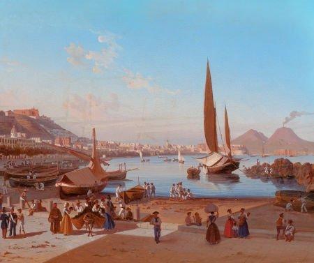 66100: EDWARD WILLIAM COOKE (British, 1811-1880) Naples