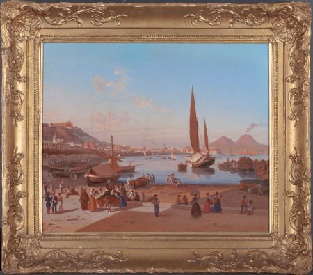 66100: EDWARD WILLIAM COOKE (British, 1811-1880) Naples - 2
