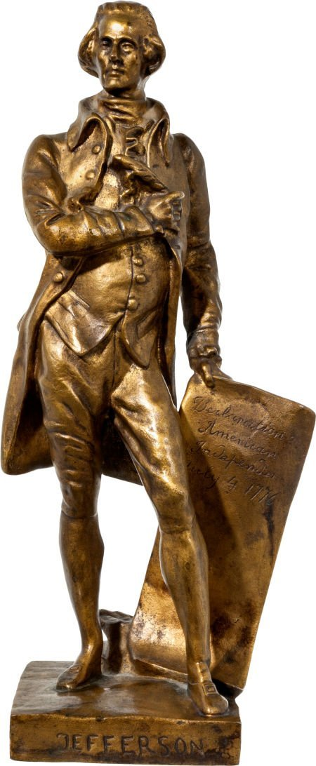 38003: Thomas Jefferson: 1912 Bronze Statue.