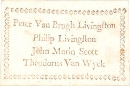38007: Continental Congress: Circa 1775 Playing Card Ba