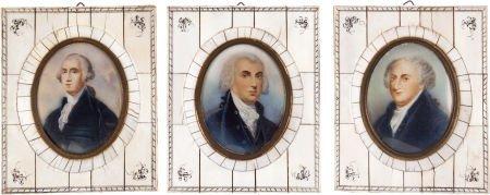 38013: Washington, Adams and Madison: Miniature Portrai