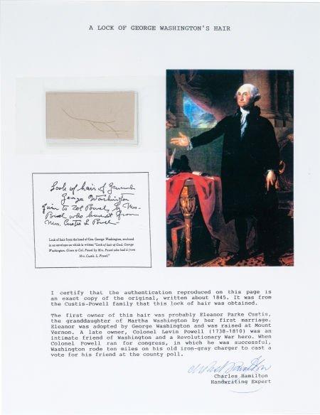 38014: George Washington: Lock of Hair.