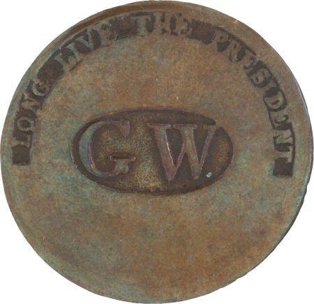 38016: George Washington: GW in Oval Button.