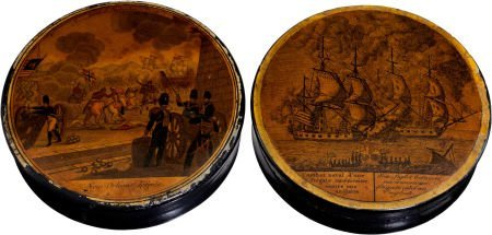 38019: War of 1812: Pair of Snuff Boxes.