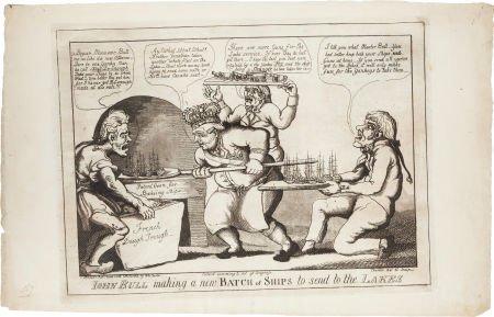 38020: War of 1812: Anti-British Cartoon.