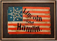 38053: Abraham Lincoln: 1860 Parade Flag.