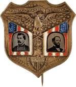 38081: McClellan & Pendleton: Gorgeous Ferrotype Jugate