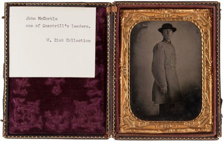 44002: John McCorkle (?): A Quarter Plate Tintype in Co