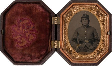 44006: Ninth Plate Tintype of an Unidentified Civil War