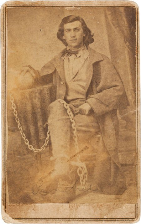 """44007: """"Frenchie"""" Fronahall: A CDV Photo Showing Him wi"""
