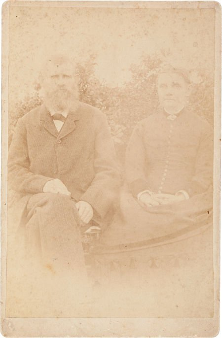 44010: George Noland and Wife: A Cabinet Photo of a For