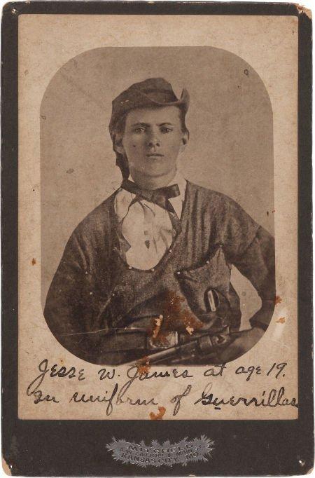 44012: Jesse James: A Rare Cabinet Photo Version His Fa