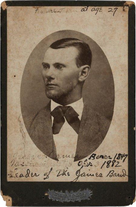 44013: Jesse James: A Rare Cabinet-Size Photo Published