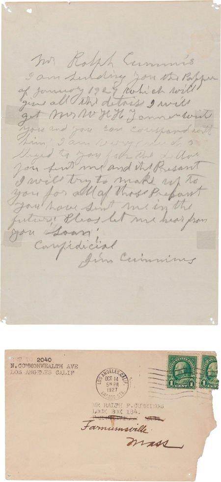 44016: Jim Cummins: Another Handwritten Pencil Letter f