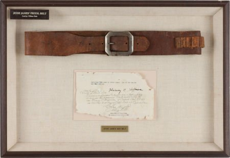 44017: Jesse James Gun Belt, from the Collection of Har