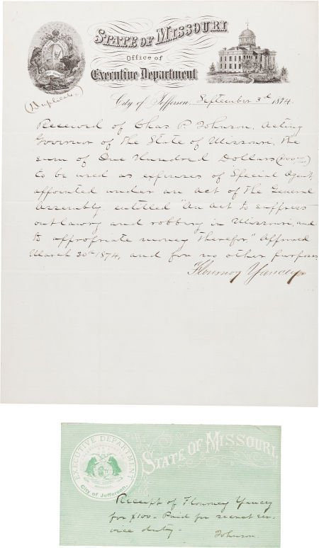 44022: [James-Younger Gang]. Fair Copy of a Flourney Ya