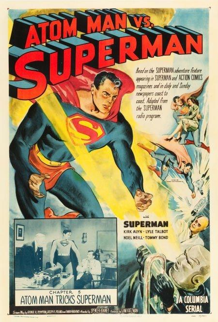 83003: Atom Man vs. Superman (Columbia, 1950). One Shee