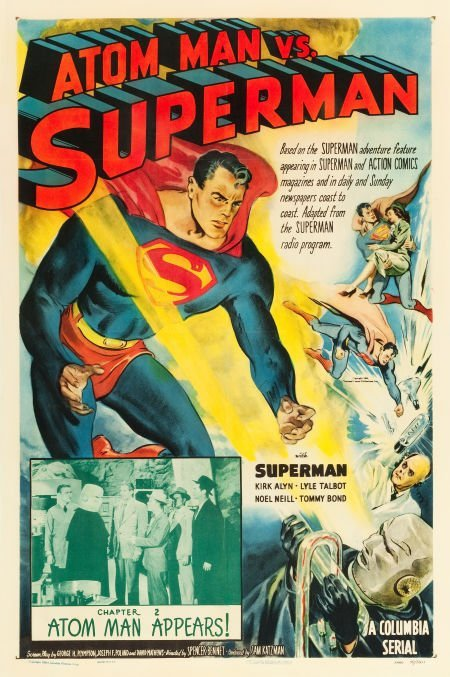 83004: Atom Man vs. Superman (Columbia, 1950). One Shee