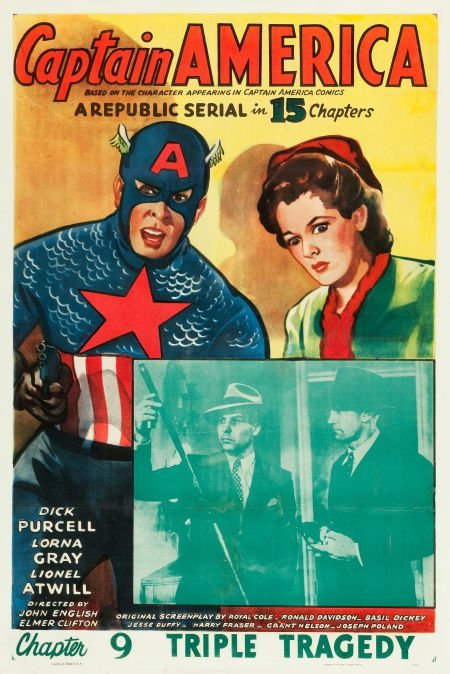 "83006: Captain America (Republic, 1944). One Sheet (27"""