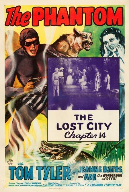 """83010: The Phantom (Columbia, 1943). One Sheet (27"""" X 4"""