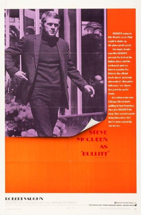 "83022: Bullitt (Warner Brothers, 1968). One Sheet (27"""