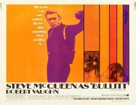 "83023: Bullitt (Warner Brothers, 1968). Half Sheet (22"""