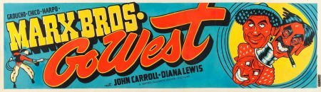 """83126: Go West (MGM, 1940). Banner (24"""" X 82"""")."""