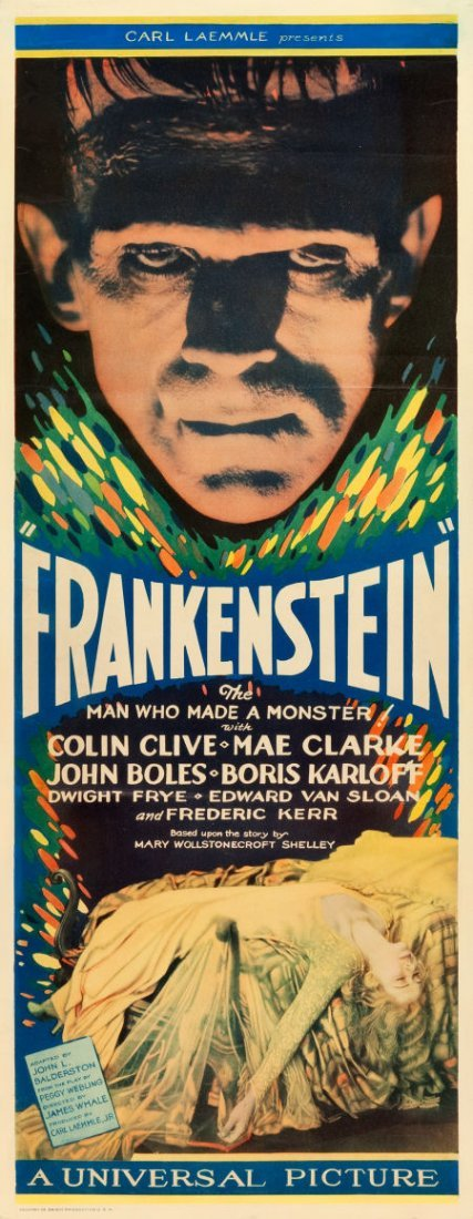 """83237: Frankenstein (Universal, 1931). Insert (14"""" X 36"""