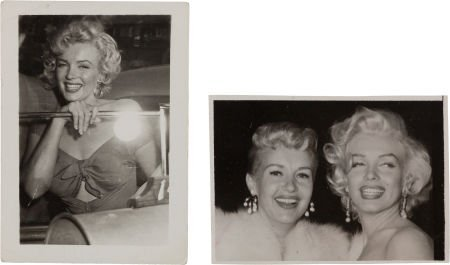 46006: A Marilyn Monroe Signed Black and White Snapshot