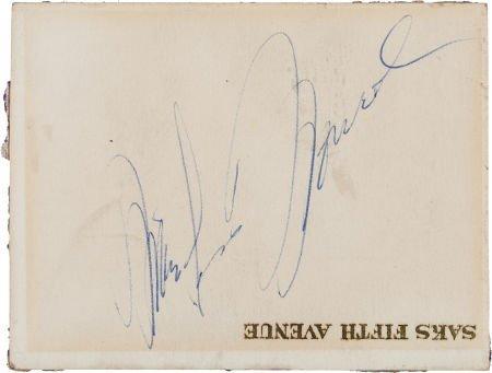 46007: A Marilyn Monroe Autograph, Circa 1950s.