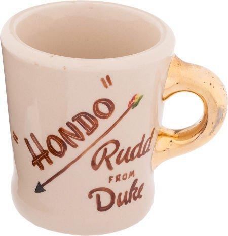 "46021: A John Wayne Coffee Mug from ""Hondo."""