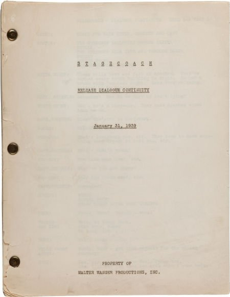 """46023: A Dialogue Continuity Script from """"Stagecoach."""""""
