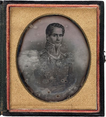 44001: Sixth-Plate Daguerreotype from a Painted Portrai