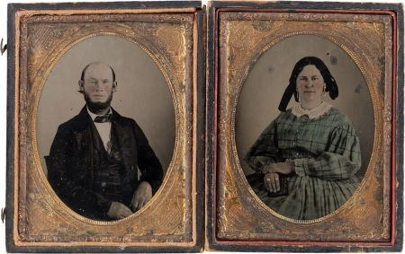 44005: Texas Ranger Taylor Smith and Wife Quarter-Plate