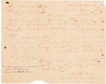 44007: [Perote Prison]. Robert Addison Gillespie Docume