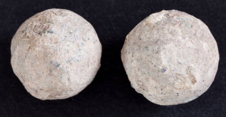 44013: [Mier Expedition]. Pair of Round Lead Balls