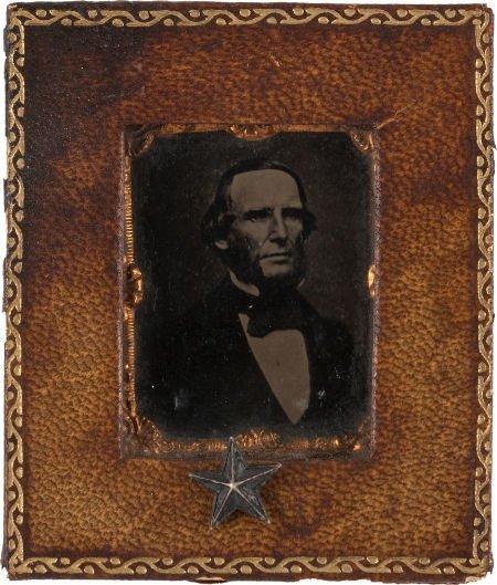 44018: [Texas Rangers]. Benjamin McCulloch Gem-Sized Ti