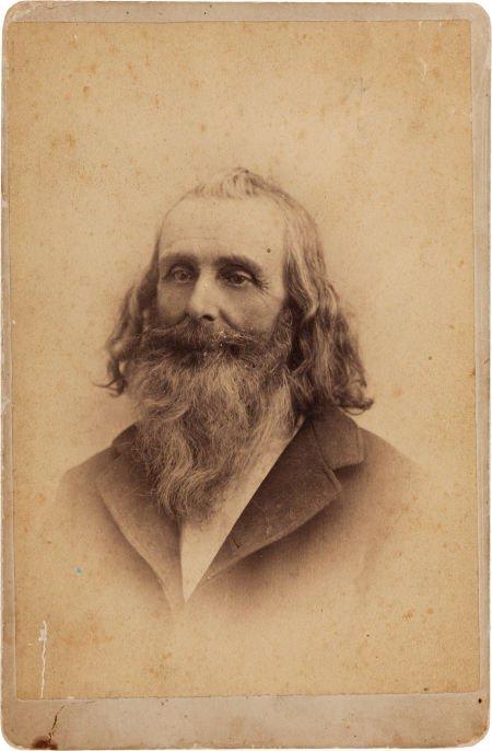 """44021: [Texas Rangers]. James """"Buck"""" Barry Cabinet Card"""