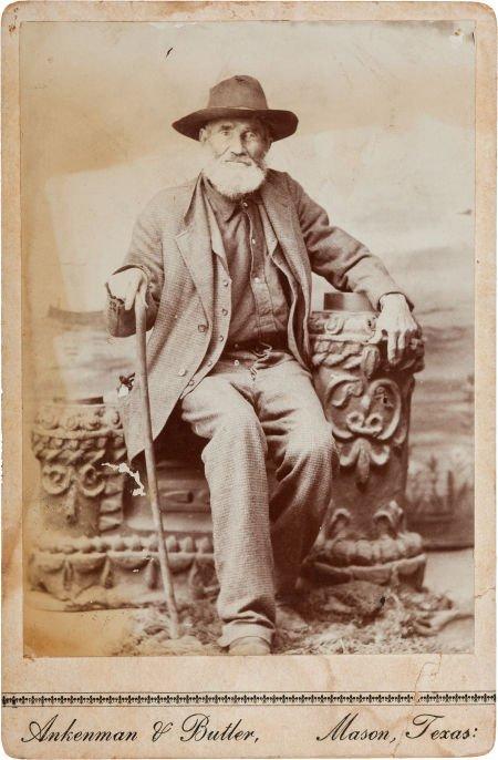 44022: [Texas Rangers]. Creed Taylor Cabinet Card, circ